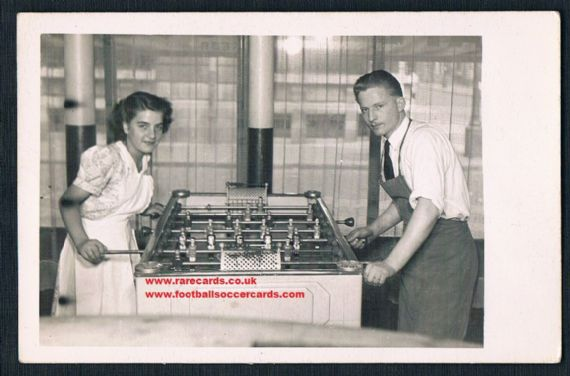 1930s a stunning table football postcard
